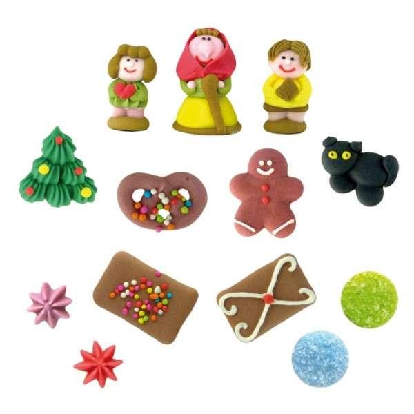 Hexenhaus Weihnachtsdekoration Zuckerfiguren