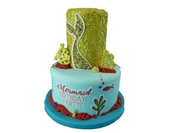 Kuchen Tattoo Mermaid Meerjungfrau Fondant Tortendeko
