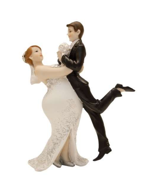 Brautpaar mollig