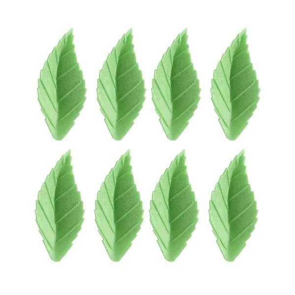 Blätter gezackt grün klein 38mm 24 STÜCK Esspapier