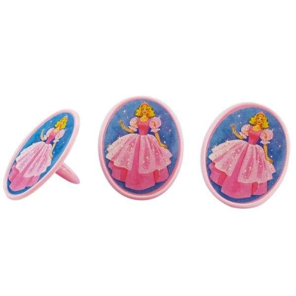 Prinzessin Ringe für Kinder, 6 Stück