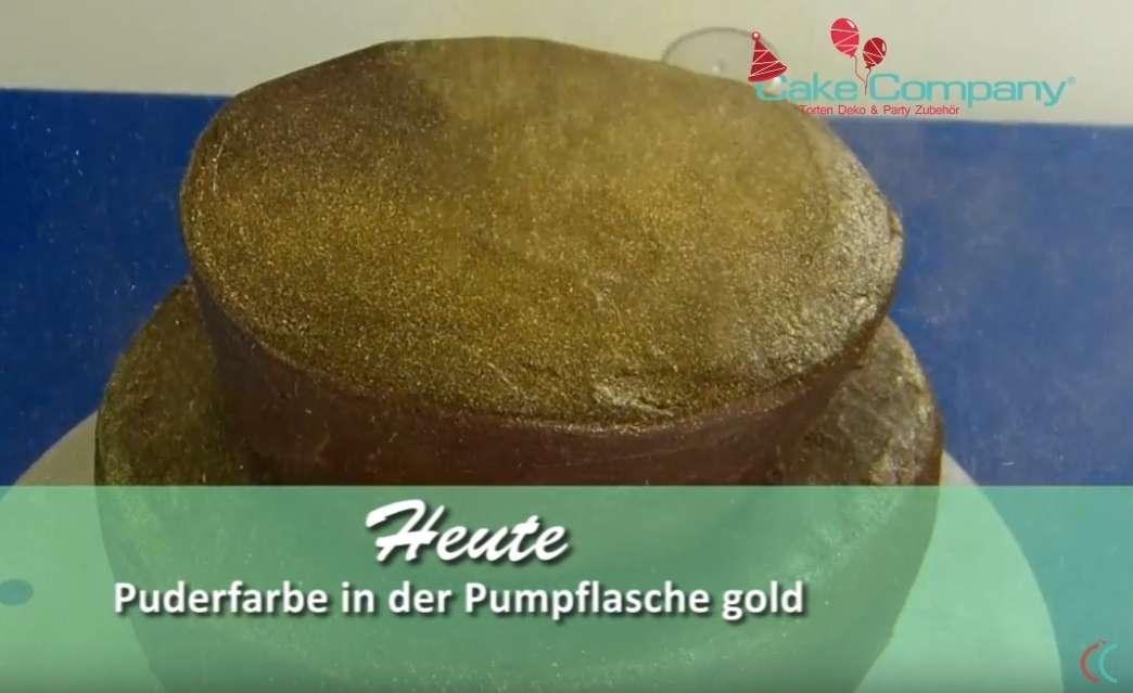 Glitzerpuder gold 10 g Puder in der Pumpflasche