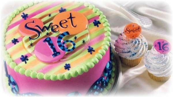 Muffindekoration 16ter Geburtstag