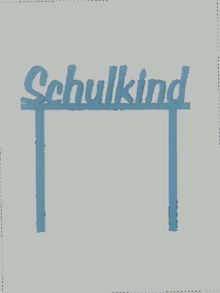 """Cake-Topper zum Schulanfang """"Schulkind"""" blau"""