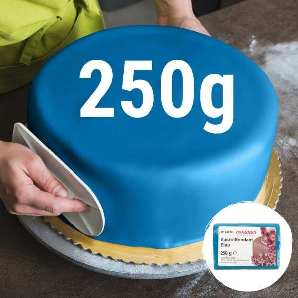 Farbiger Fondant blau 250 g