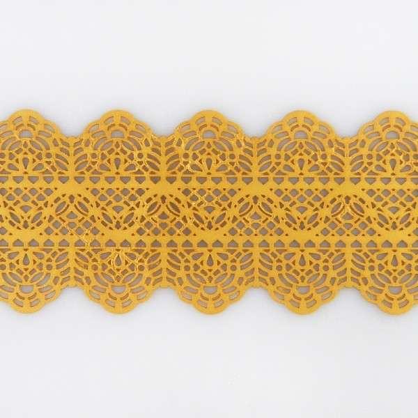 """Sweet lace-pearl gold """"Spitzenband"""" 38x7,5cm essbare Spitze - fertig zum Gebrauch"""