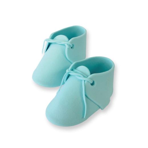 Zuckerdekoration Babyschuhe blau ca.96 x 52mm