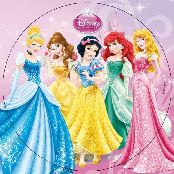 """Esspapieraufleger Disney """"5 Prinzessinnen"""" 20cm"""