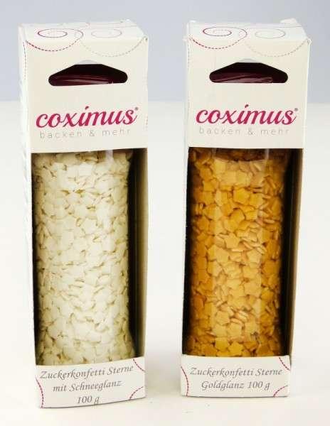 Weihnachtsset Zuckerkonfetti SET02 Sterne Goldglanz Sterne Schneeglanz