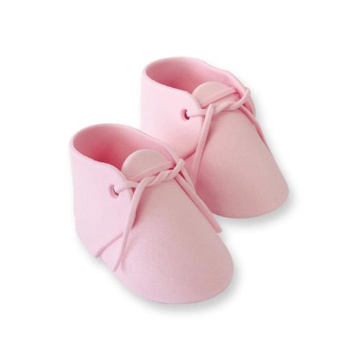 Zuckerdekoration Babyschuhe pink ca.96 x 52mm