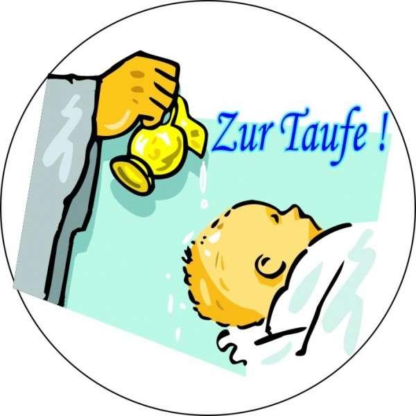 """Zuckeraufleger """"Zur Taufe"""" Junge 10cm"""