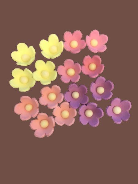 Zuckerdekoration Blumen Rosa
