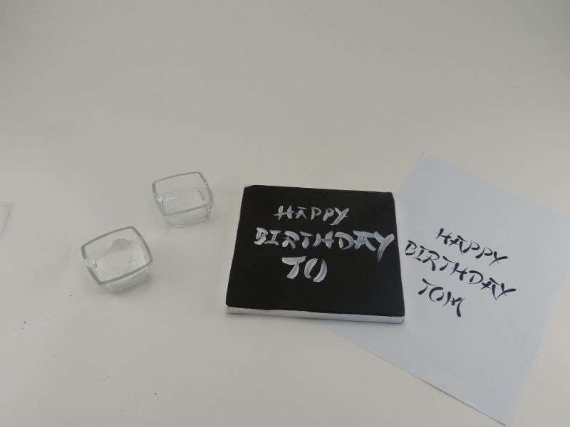 Geburtstagswünsche auf Fondant schreiben