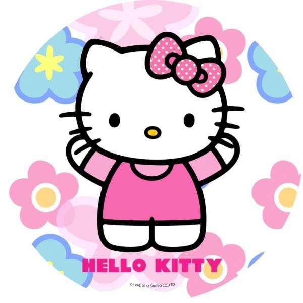 """Esspapieraufleger Hello Kitty """"Motiv B: winkend"""" 20cm"""