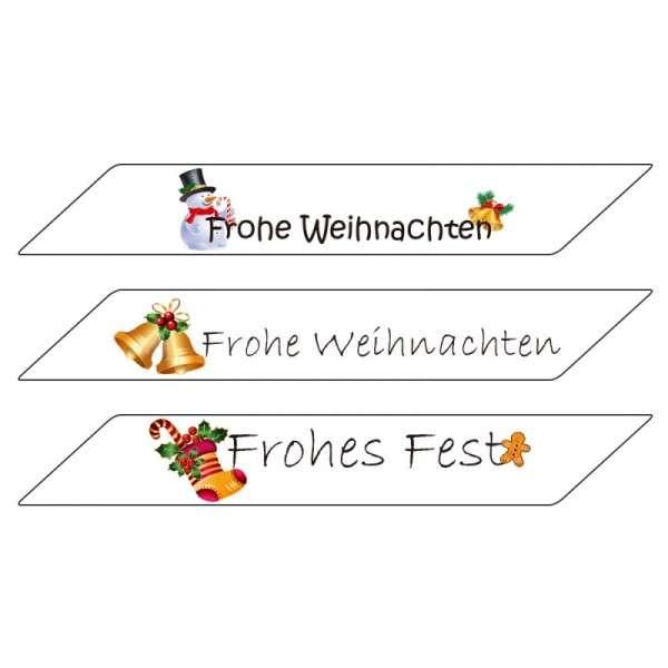 """Tortenaufleger Schriftzüge """"Weihnachten"""" 3 Stück"""