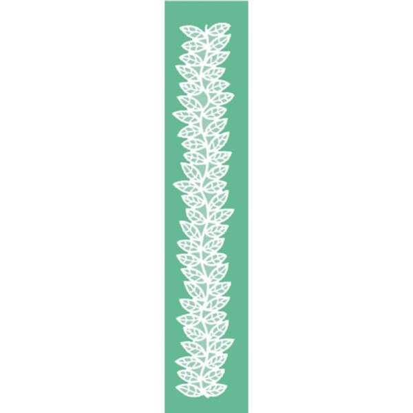 Pavoni Magic Decor Silikonmatte für essbare Spitze Einzelbordüre Rosenblatt