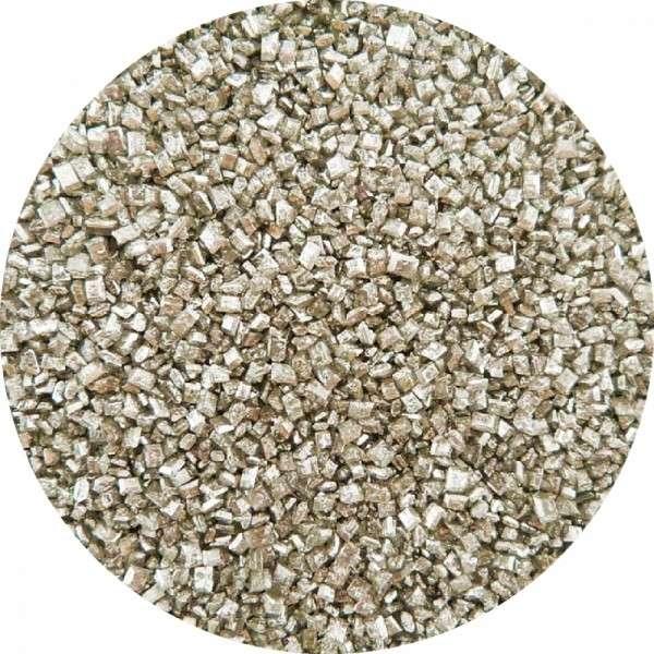 Kristallzucker Metallic Silber 60g