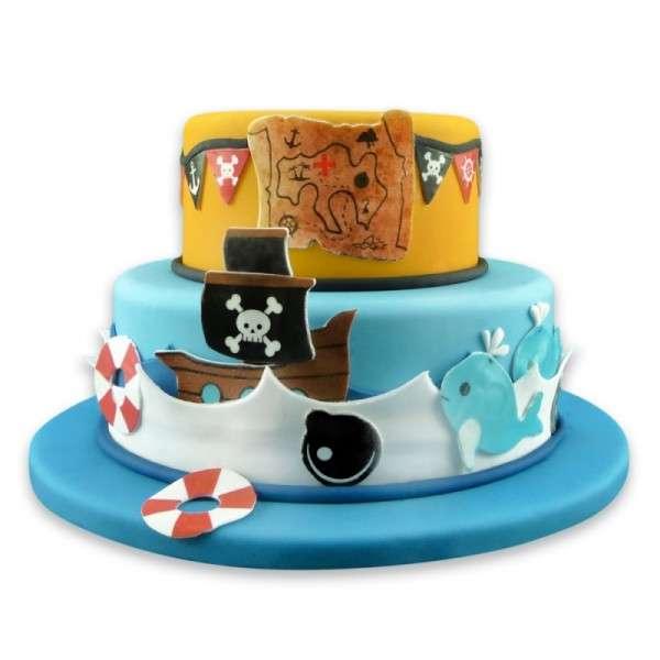 Kuchen Tattoo Pirat Fondant Tortendeko