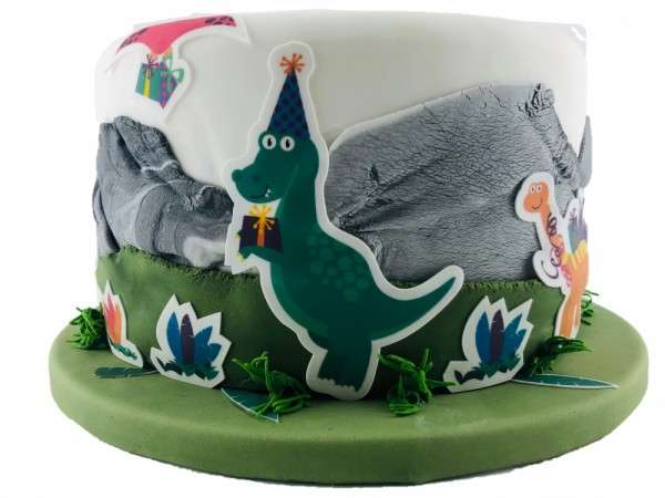 Kuchen Tattoo Dinosaurier Fondant Tortendeko