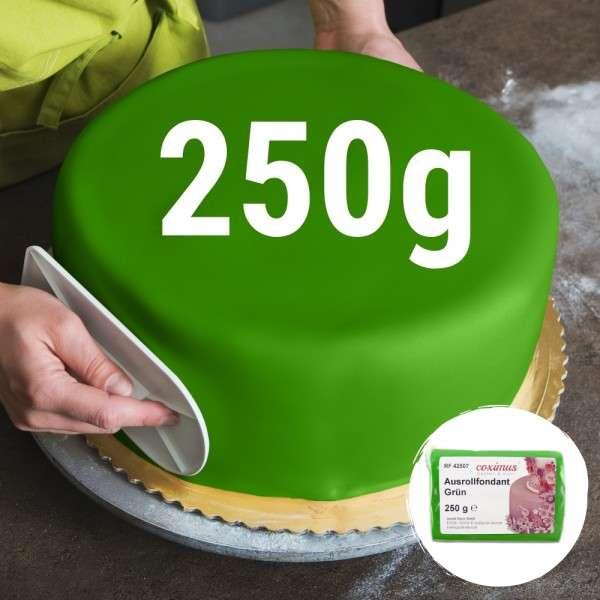 Farbiger Fondant grün 250 g