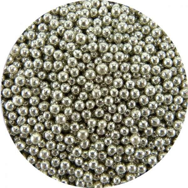Zuckerperlen Metallic Silber ca.2,5-3mm 60g