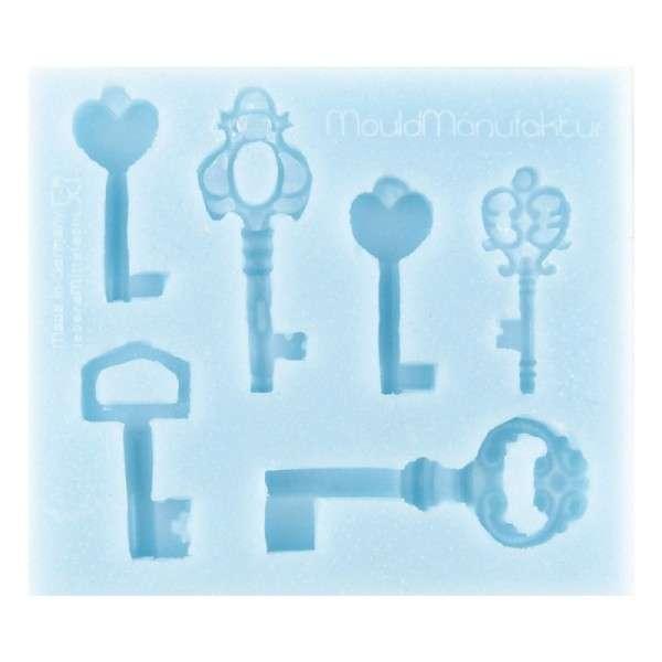 "Silikonform ""Schlüssel"" Schlüsselgröße 3,0 - 4,5 cm"