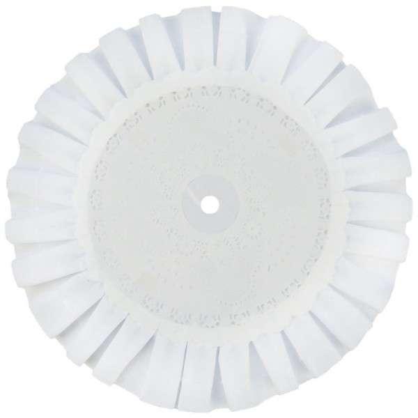 TORTENPLATTE MIT SPITZE weiß rund 450mm 1 Stck