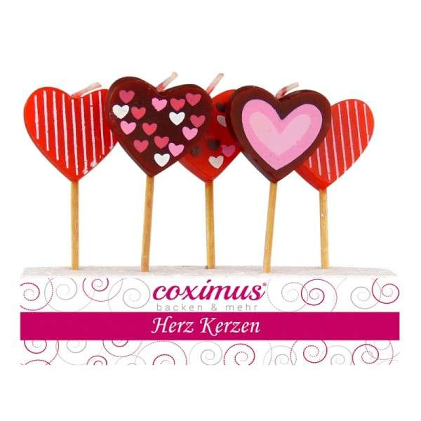 Motivtorten Dekoration Valentinstag Kerzen