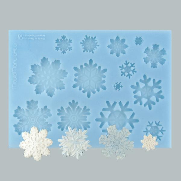 Silikonform Schneeflocke