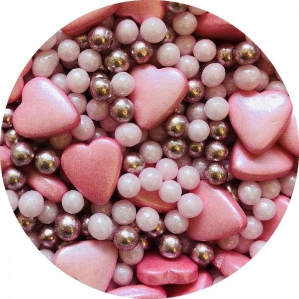 Zuckerherzen Mix rosa 60g