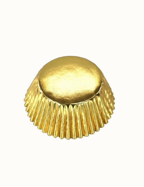 Cupcake-Formen Metallic Gold