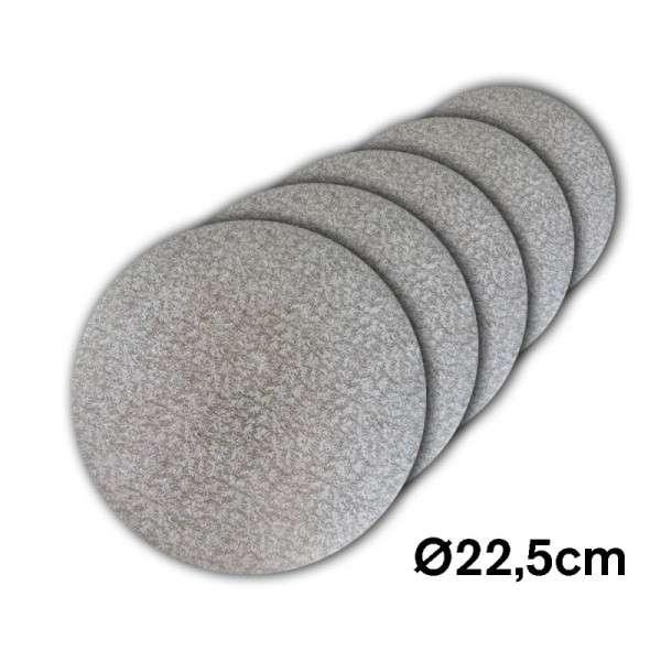 Tortenplatte 225 mm Ø Cake Drum silber ca.3mm dick 5 Stck