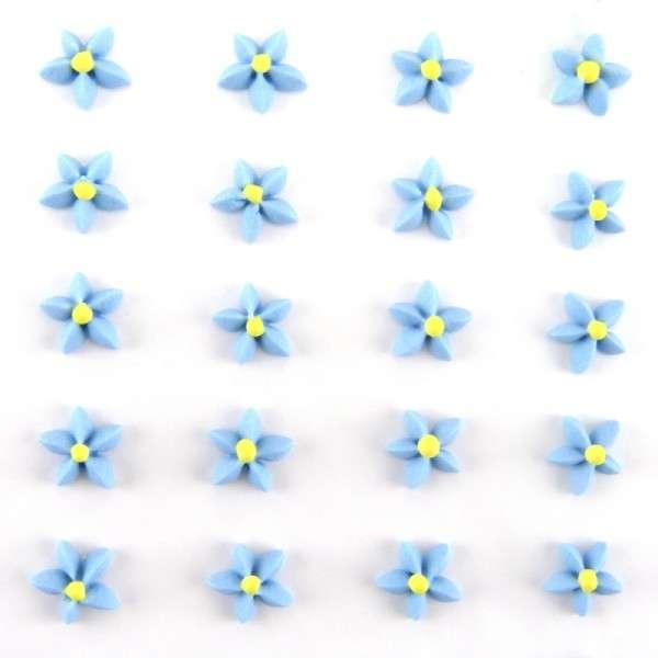 Zuckerdekoration Blumen Blau