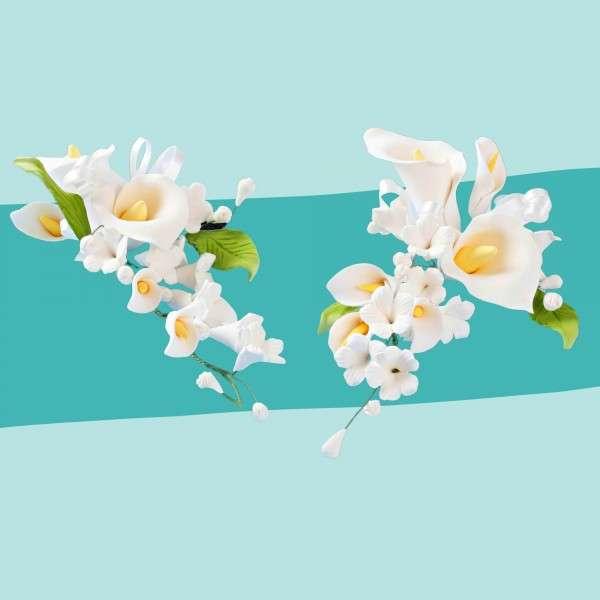 Zuckerblumenbouquet Calla 2 Stück Vorschaubild