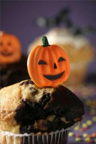 Tortendekoration Halloween Cupcake Kürbisspicker 6 STÜCK