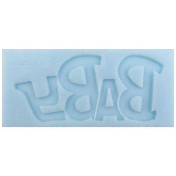 "Silikonform ""Schriftzug Baby"" ca.11x5x0,8cm"