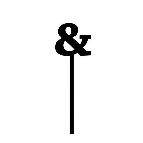 "Cake-Topper ""&"" Straight, dick, schwarz"