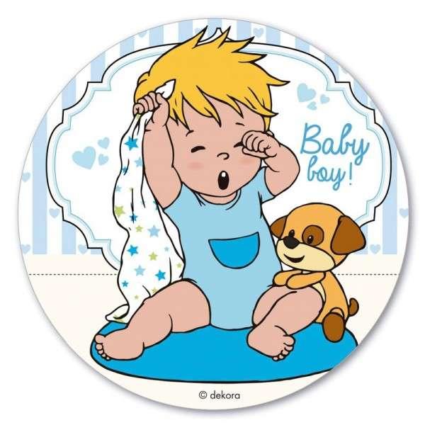 Esspapieraufleger Baby Boy
