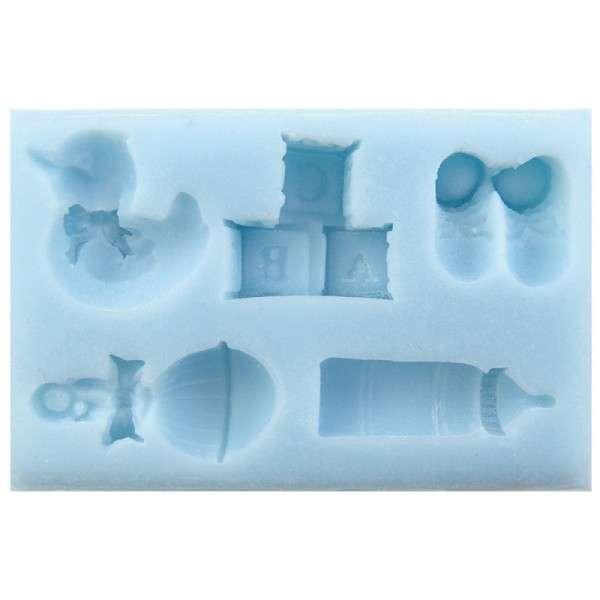 SF-KU-025 Silikonform Baby Zubehör gemischt 5-fach