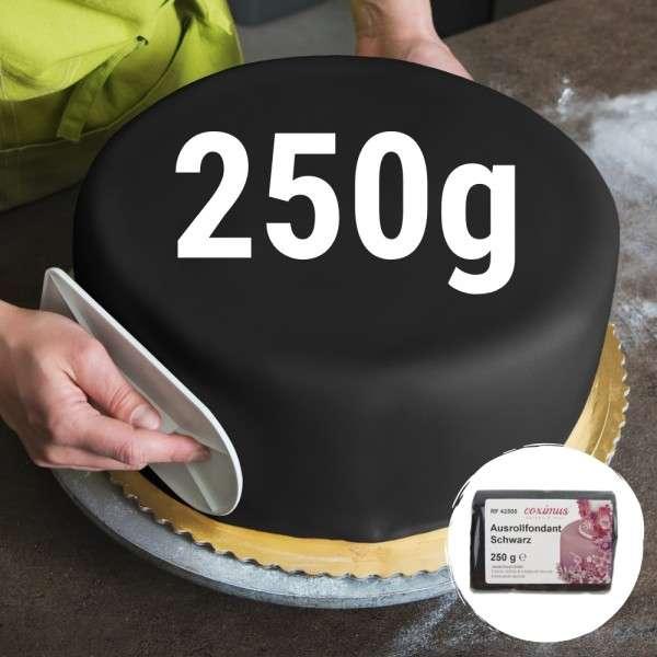 Farbiger Fondant schwarz 250 g