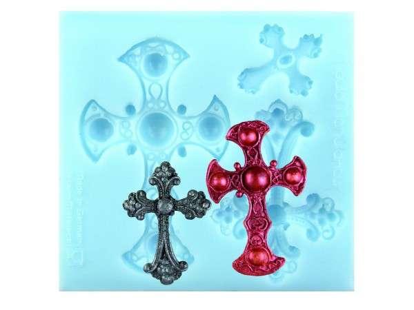 Silikonform gotische Kreuze