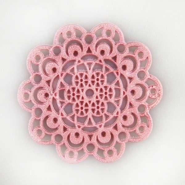 """Sweet lace-pearl rosa """"Rosette"""" ca.5cm essbare Spitze - fertig zum Gebrauch"""