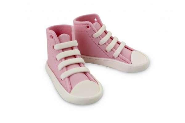 Zuckerdekoration Sneaker high, pink,1 Paar, Einzelschuh 80 x 30 x 30 mm