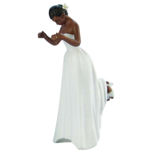 Hochzeitfigur Braut dunkelhäutig