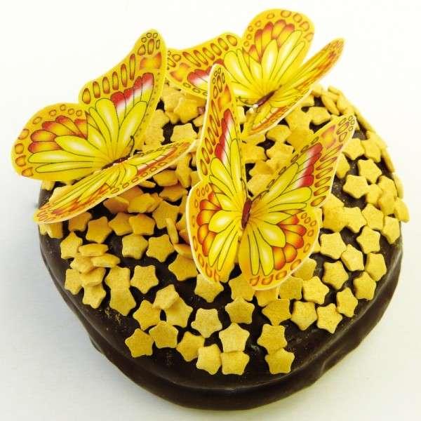 Schmetterlinge Esspapier gelb 50x45mm 12 Stck