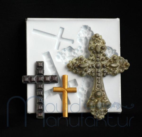 Silikonform Kreuze