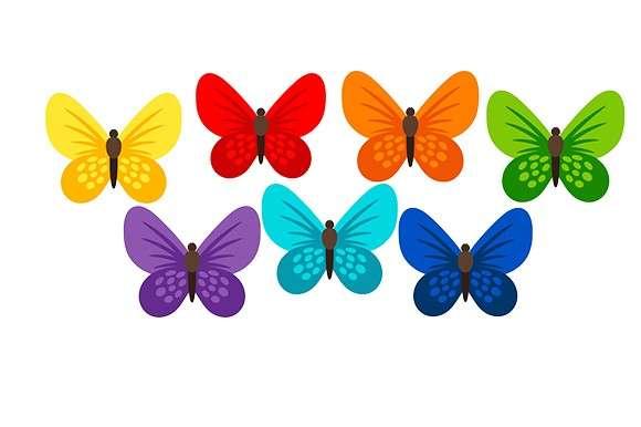 Esspapier Schmetterlinge bunt gemischt