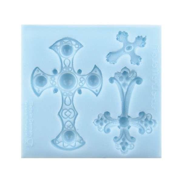"Silikonform ""gotische Kreuze"" ca .10,5 x 11,1 x 1,2 cm"