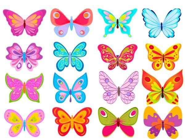 Schmetterlinge Esspapier Bunt