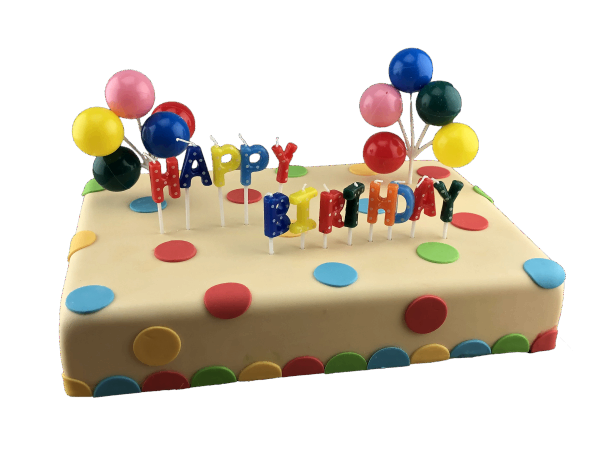 Tortendekoration Happy Birthday